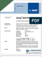 Chemicals Zetag DATA Inverse Emulsions Zetag 8847 FSB - 0410