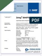Chemicals Zetag DATA Inverse Emulsions Zetag 8846 FS - 0410