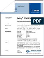 Chemicals Zetag DATA Inverse Emulsions Zetag 8849 FS - 0410