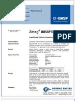 Chemicals Zetag DATA Inverse Emulsions Zetag 8858 FSB - 0410
