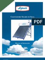 Ajover Manual Solar Water Heater Installation Es