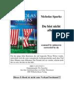 Sparks Nicholas - Du Bist Nicht Allein