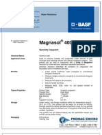 Chemicals Zetag DATA Magnasol 4000 G - 0410