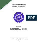 Tugas Sistem Operasi - Instalasi Linux Vector Soho 5.0