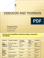 Merger Videocon&Thomson