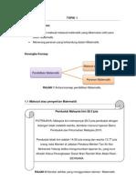 Modul 1 - maksud, peranan, tabii, dan nilai-nilai matematik