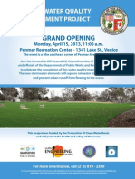 Rosendahl Cuts Ribbon on Green Project in Venice
