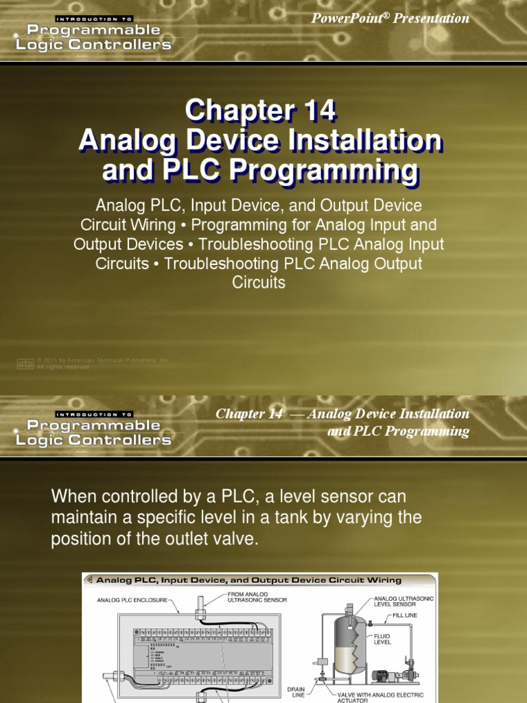 Analog Device Installation and PLC Programming