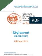 Reglement C2EI Paris 2013