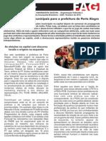 Opinião eleições municipais Porto Alegre