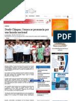 Desde Chiapas, Oaxaca se pronuncia por una hazaña nacional