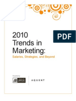 Trends in Marketing - Salaries, Strategies and Beyond 2010