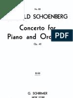 Schonberg Arnold Piano Concerto Op 42