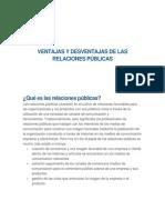Ventajas y Desventajas de Las RRPP