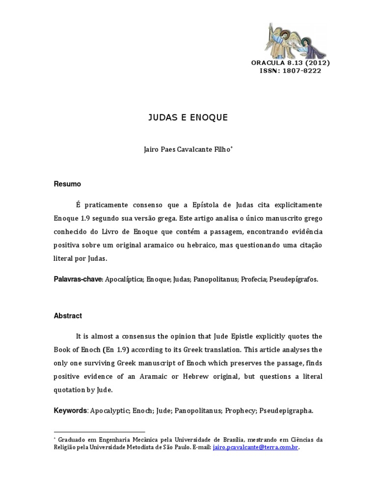 De o enoch pdf livro