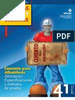 Cemento para Albañilería-Mortero Espec y Metodo d Prueba Ene. 2011.pdf