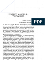 Testamento de Evaristo Madero Elizondo. (1910)