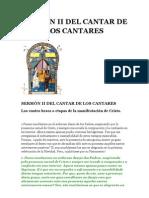 SERMÓN II DEL CANTAR DE LOS CANTARES