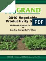 2010 Vegetable Productivity Study