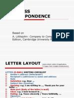 Business Correspondence 1