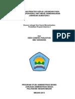 Laporan Praktek Kerja Lapangan Pada PT PLN (Persero) UIP RING SUM I