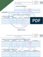 Planilla de Inscripción ILAMUN