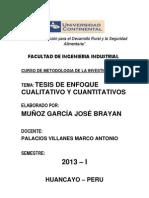 Tesis Cuantitativo de Ingenieria Industrial