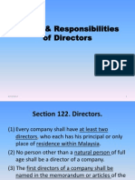 Duties & Responsibilities of Directors
