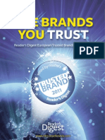 Readers Digest - The Brands You Trust 2011