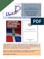 Textos Comparados Constitución 2010 y Constitución 2002