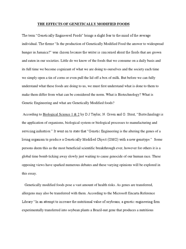 Examples Of A Thesis Statement For An Essay Expository Essay Communication Studies Genetically Modified  V Expository Essay Communication Studies Genetically Modified  Foods Essay  Gay Marriage Essay Thesis also Interesting Essay Topics For High School Students Genetically Modified Foods Essay Personal Business Memos Format  Compare And Contrast Essay Examples For High School