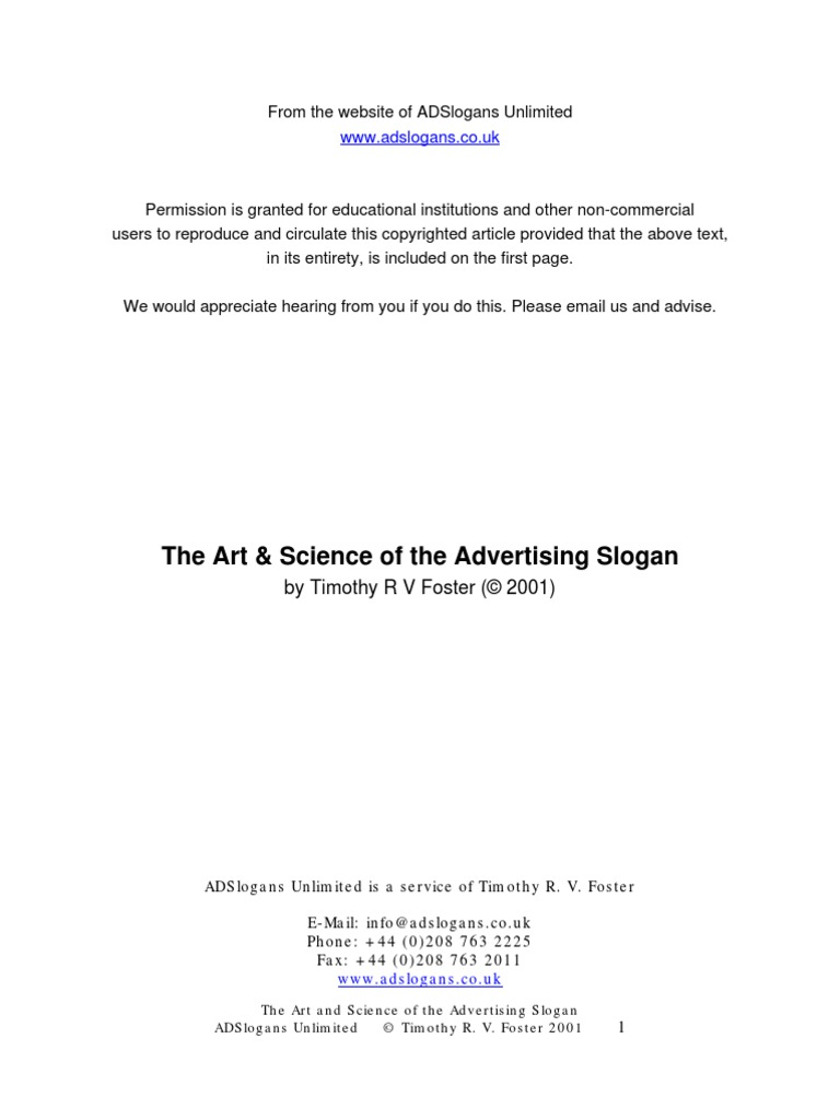 Slogan   Brand   Advertising