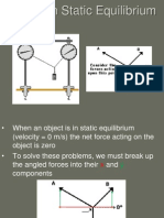 Analyzing Forces in Equilibrium