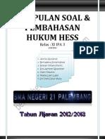 Kumpulan Soal Hukum Hess_xi Ipa3