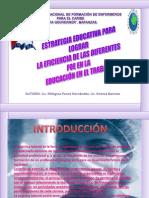 Estrategia Educativa Lograr Eficiencia Diferentes Foe Educacion Trabajo