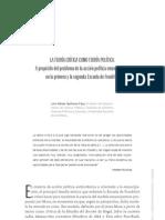 Quiñonez, J - La teoria critica como teoria politica