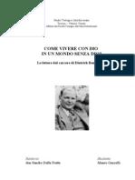La parabola di Dietrich Bonhoeffer