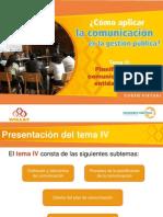 PlanificaciónComunicaciónEntidadPública Tema 4