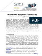 DETERMINATION OF GEROTOR PUMP THEORETICAL FLOW