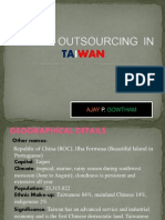 Global Outsourcing in Taiwan