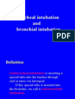 Thacheal ion and Bronchial Intubation
