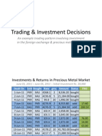 Presentation - Sample Trading & Investment Decisions