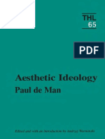 Paul de Man Aesthetic Ideology
