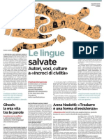 Le lingue salvate. Autori, voci, culture a «Incroci di civiltà» - L'Unità 18.04.2013