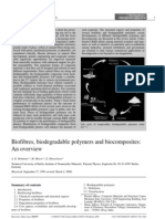 Biofibres Biodegradable Polymers and Biocomposites an Overview