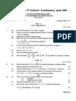 Link to Engineering Mathematics III 2009 April (2006 Ad)