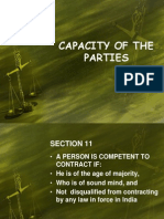 Capacity of the Parties