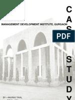Case Study - Non Architectural - Mdi, Gurgaon