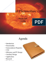 A Review of Photovoltaic Cells (David Toub)