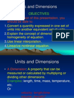Units and Dimensions